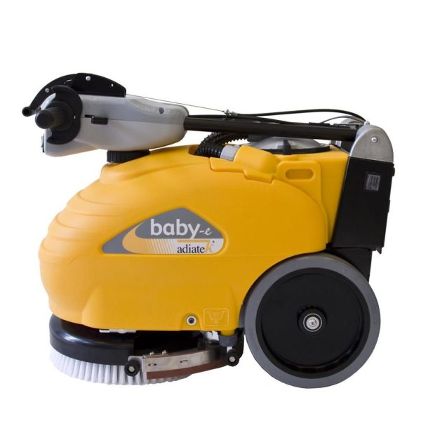 Baby-e gulvvaskemaskine set fra siden