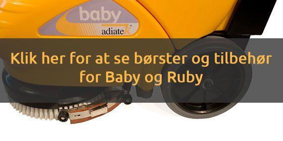 Tilbehør og reservedel til Babuy og Ruby gulvvaskere