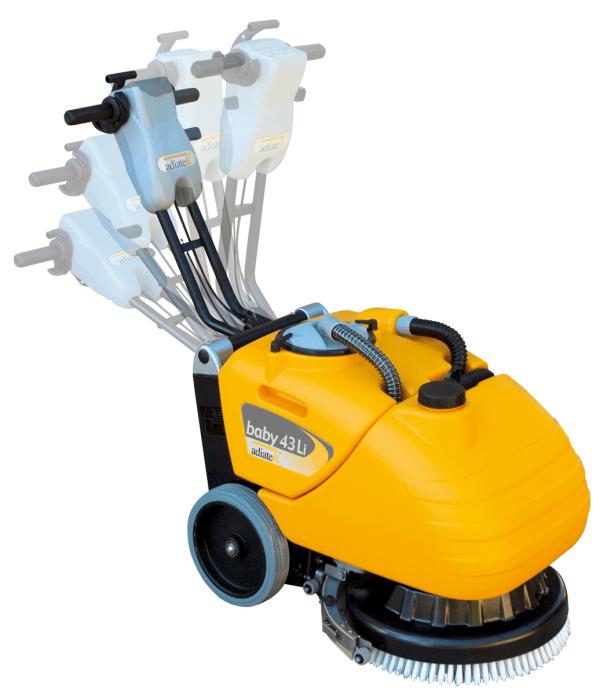 Baby 43Li gulvvaskemaskine med varierende håndtagsindstillinger