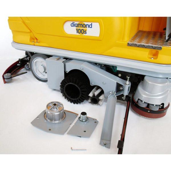 Diamond 100S gulvvaskemaskine børstesystem