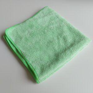 Grøn microfiberklud på 40 x 40 cm