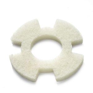 Hvid rondel sart rengøring