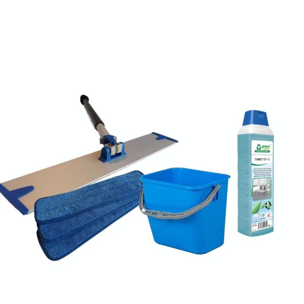 Samlet pakke med professionelt rengøringssæt